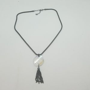 Moonlight twist tassel necklace new